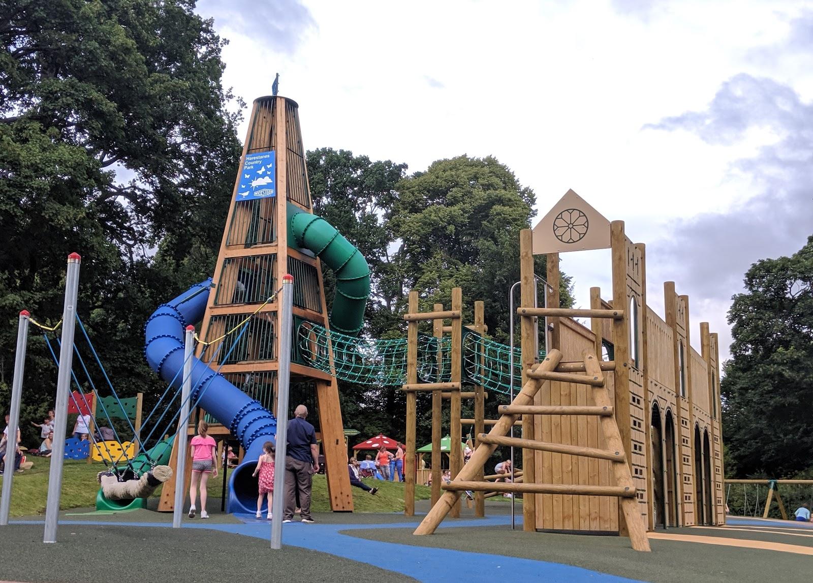 Harestanes Park, Jedburgh  - big slides