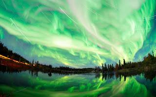 Paisagem natural do Alasca - Aurora Boreal