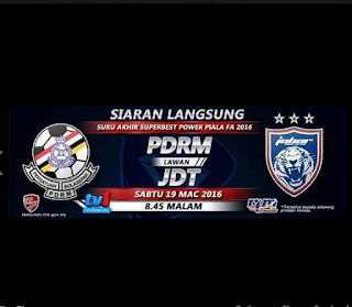 live streaming jdt vs pdrm19.3.2016