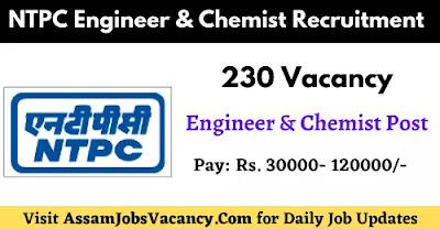 NTPC Engineer & Chemist Recruitment