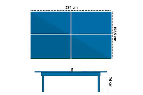Ukuran meja tenis