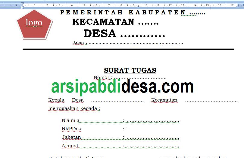 Download Contoh Surat Tugas Lhpd Dan Pernyataan Riil