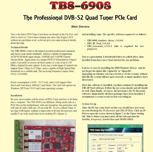 DVB-S2,DVB-T2 TV Tuner,IPTV Streaming Server: 2015