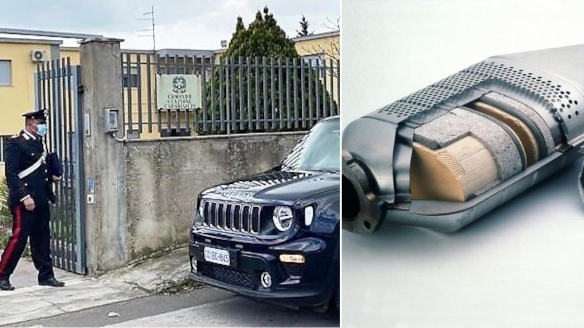 Vizzini Carabinieri furto catalizzatore
