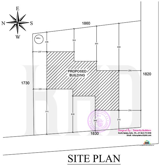 Site plan of a Lenient house
