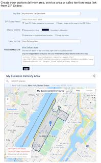 Google Maps Zip Code Overlay, 03-2021