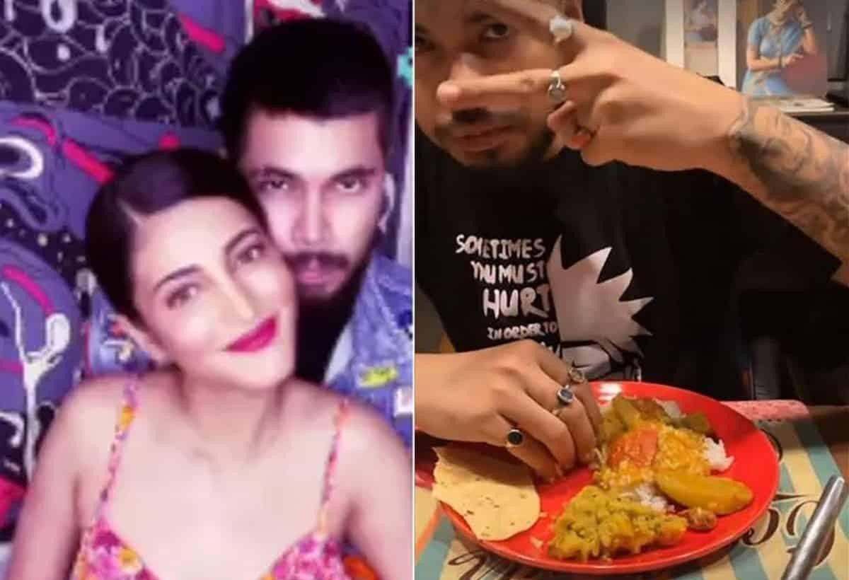 Actress Gossips: Shruti Haasan Feeds Traditional Tamil Meal To Her Boyfriend