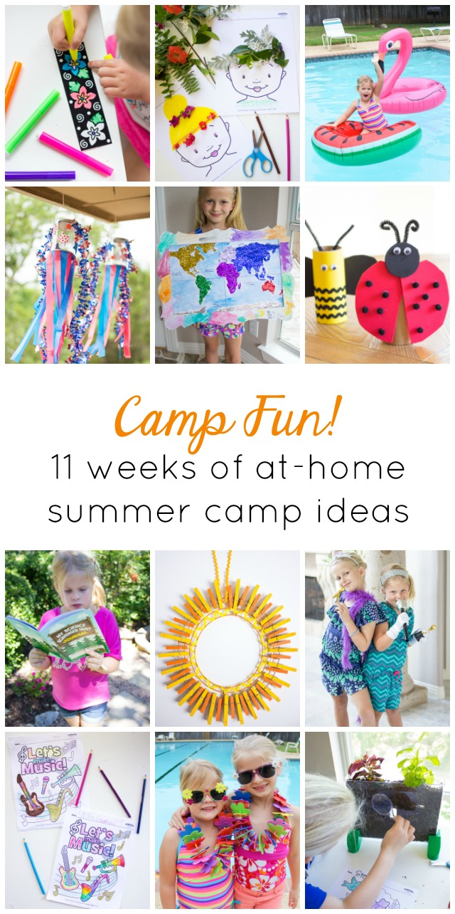 Saving this for the summer! Fun ideas for holding an at-home kids summer camp