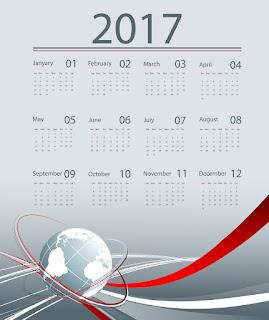 2017カレンダー無料テンプレート202