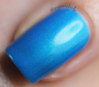 Seventy Seven Nail Lacquer Blue Bombshell by Bedlam Beauty