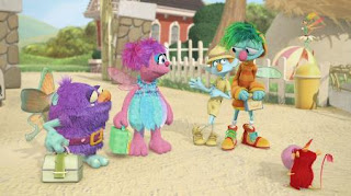 Abby Cadabby Blögg Gonnigan Mrs. Sparklenose, Abby's Flying Fairy School Puckish Pete's Petting Zoo Play Along, Sesame Street Episode 4419 Judy and the Beast season 44