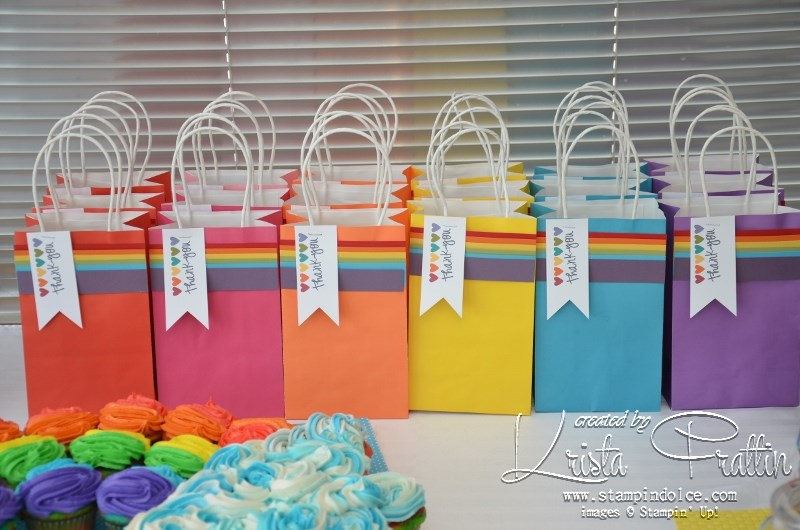 stampin dolce rainbow party theme