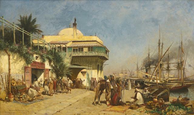 Alfred Wordsworth Thompson - Port of Algiers