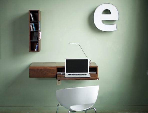 Modernos escritorios minimalistas para espacios reducidos - Escritorios para espacios reducidos ...