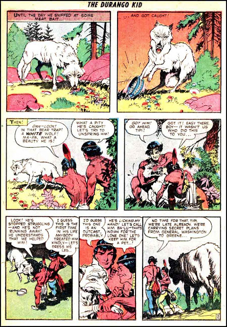 Frank Frazetta 1950s golden age western comic book page / Durango Kid #15