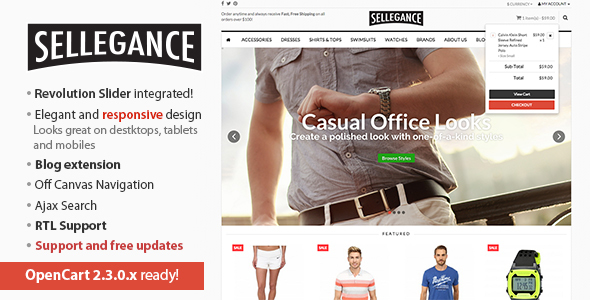 Sellegance Opencart Theme Download