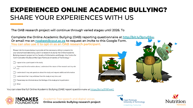 EXPERIENCED ONLINE ACADEMIC BULLYING?  SHARE YOUR EXPERIENCES WITH US