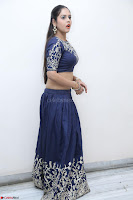 Ruchi Pandey in Blue Embrodiery Choli ghagra at Idem Deyyam music launch ~ Celebrities Exclusive Galleries 077.JPG