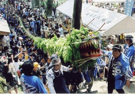 Jagamaita (Snake Festival) at Mamada Hachiman Shrine, Oyama City, Tochigi Pref.