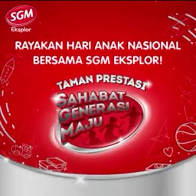 Rayakan Hari Anak Nasional Bersama SGM Eksplor Di Taman Prestasi Sahabat Generasi Maju Jakarta
