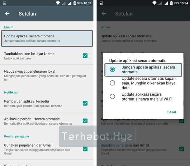 mematikan update otomatis aplikasi android
