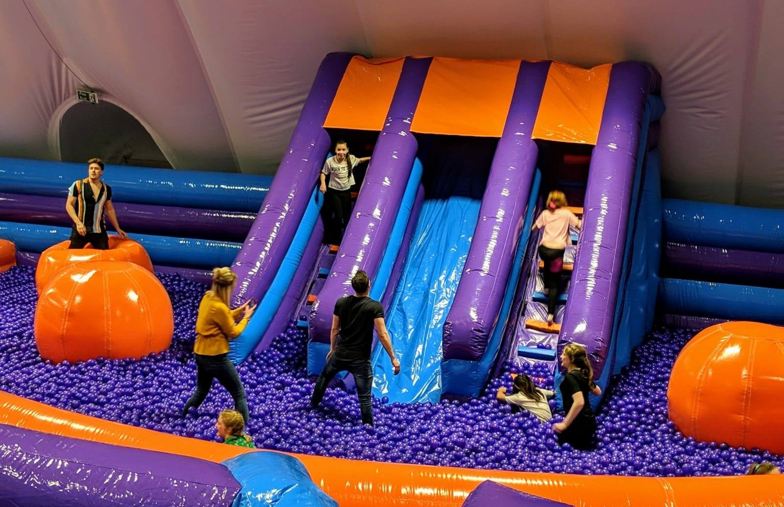 What to do when it rains in North East England | 20+ places to visit with kids - all accessible via public transport - Inflatanation Royal Quays