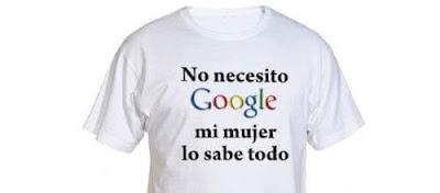 No necesito google, mi mujer lo sabe todo, tshirt, camiseta, t-shirt, tee