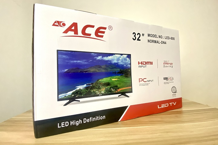 Ace 32-inch Slim LED TV (LED-808 DN4) Unboxing