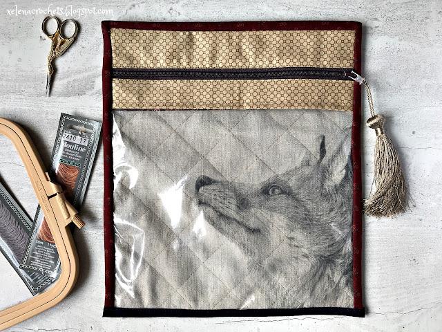 как сшить конверт для вышивки с окном