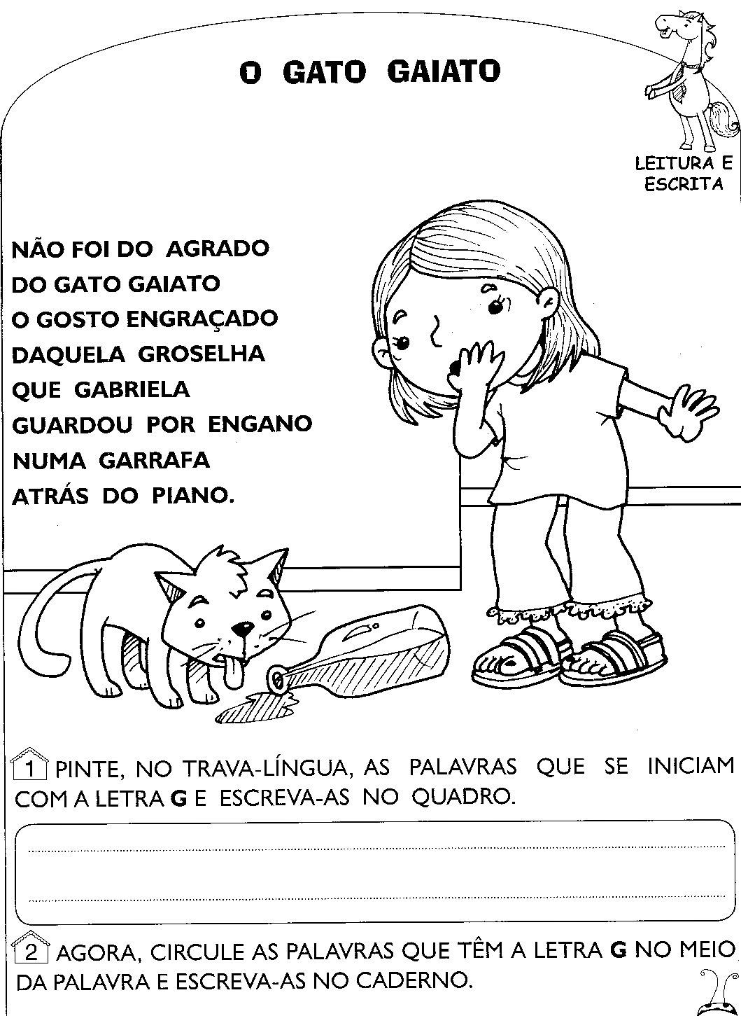 Well-known Atividades de Alfabetização Com a Letra G - Blog Cantinho Alternativo BJ25