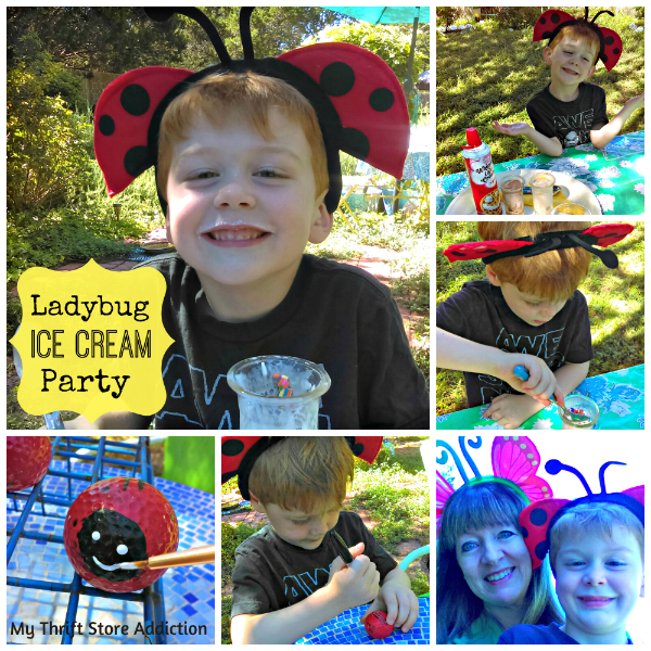 Ladybug ice cream party