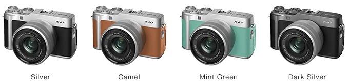 Fujifilm X-A7 Colors