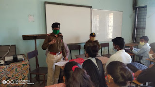 पुलिस द्वारा बालिकाओं को जागरूक करने चलाया गया अभियान