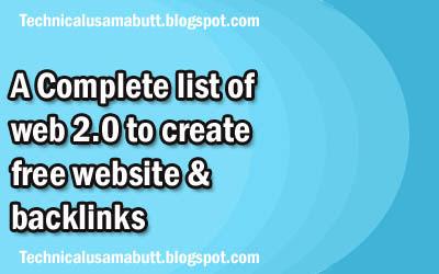 web 2.0 submission sites list 2021
