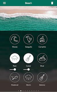 Tampilan Aplikasi White Noise Atmosphere Iphone
