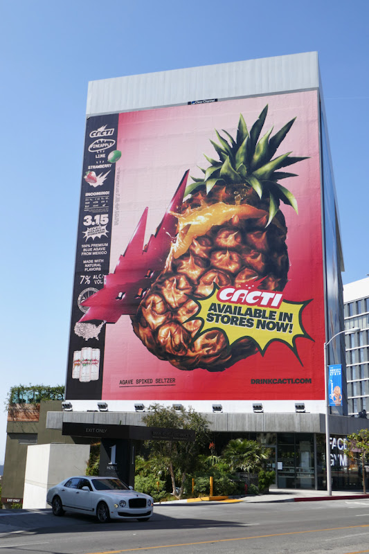 Giant Cacti Pineapple Spiked Seltzer billboard
