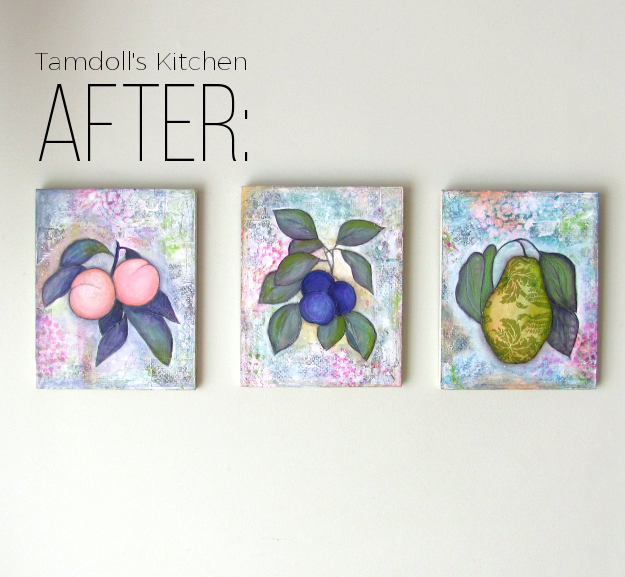 Make It Your Own Wall Art Revamp by Tamdoll After Pic