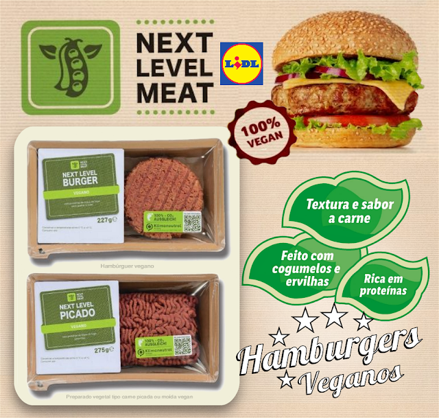 NOVO HAMBÚRGUER E CARNE PICADA VEGAN DO LIDL NEXT LEVEL MEAT