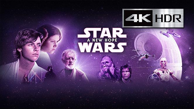 La guerra de las galaxias (1977) 4K UHD [HDR] Latino-Castellano-Ingles