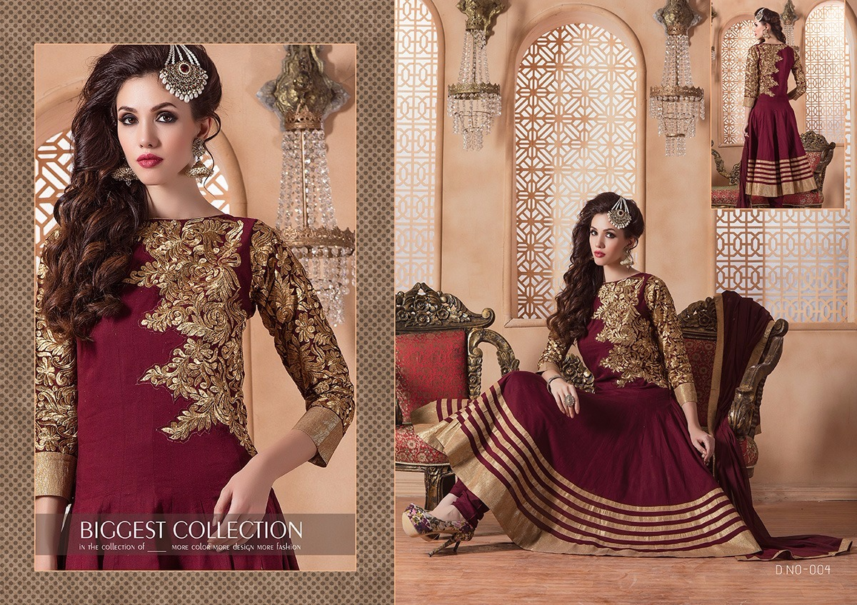Glossy  – Beautiful Stylish Cotton Ready to wear Anarakali suit