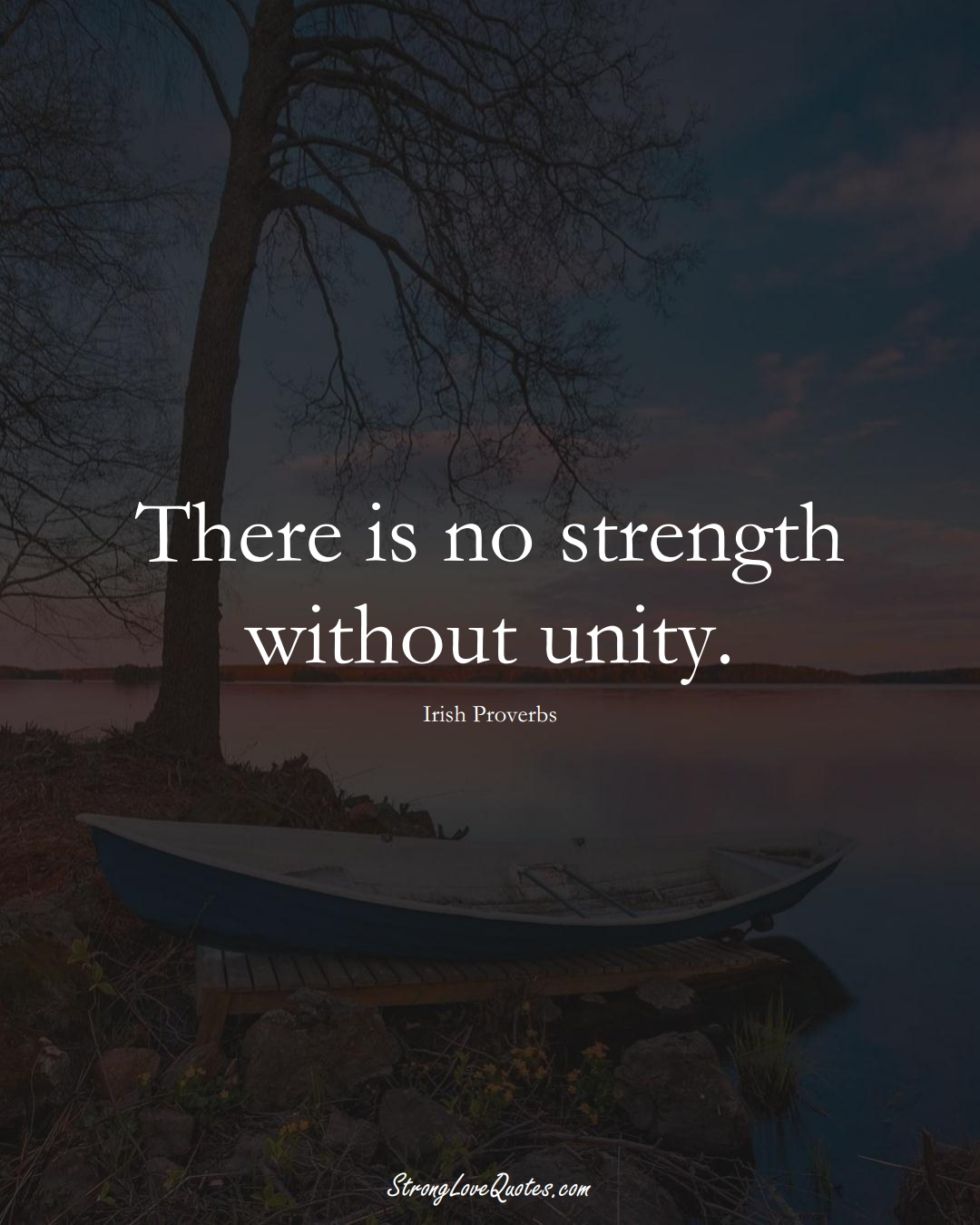 There is no strength without unity. (Irish Sayings);  #EuropeanSayings