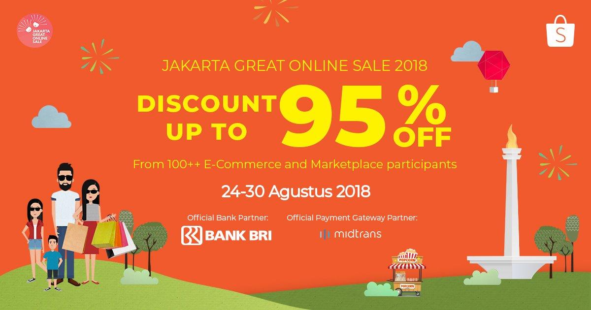 Shopee - Promo Diskon s.d 95% di Jakarta Great Online Sale 2018