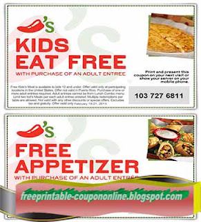 Free Printable Chili's Coupons