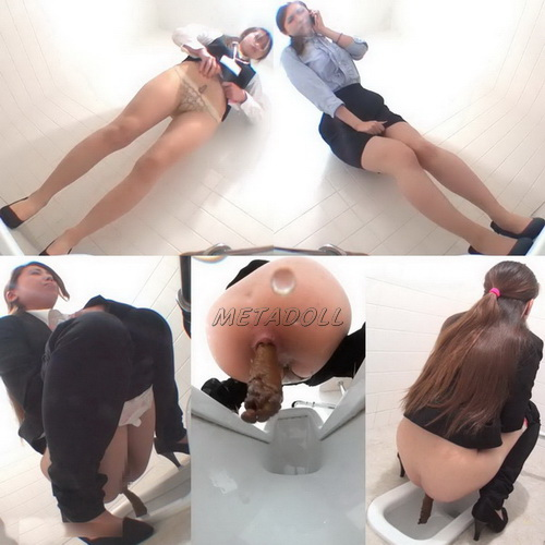 [EE-134] Powerfull diarrhea in girls and a lot shit in public toilet