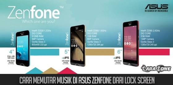 Cara Memutar Musik di ASUS ZenFone dari Lock Screen