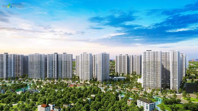 Phối cảnh chung cư Vinhomes Smart City Tây Mỗ