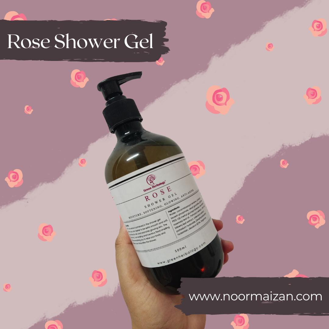 Rose Shower Gel dari Green Herbology