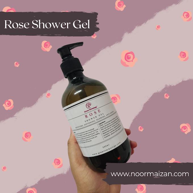 Rasa Macam Mandi Bunga dengan Rose Shower Gel Green Herbology