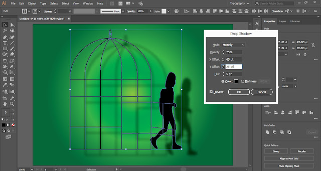 Drop Shadow Effect in Adobe Illustrator