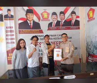 Ketua Projo NTB Daftar Balon Walikota Mataram di Partai Gerindra